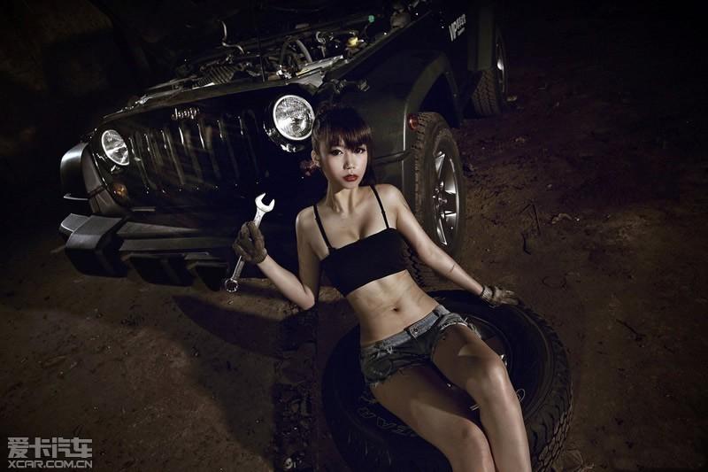 狂野jeep牧马人美女