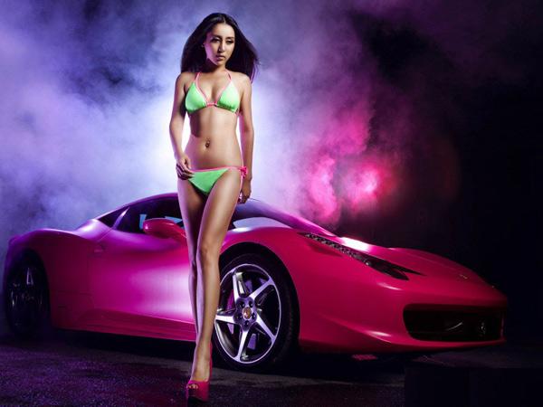 清纯甜美法拉利车模 美女美国 电视连续剧 什么特工 有三高清图片