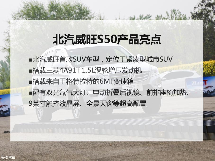 配置和空间是卖点 爱卡体验北汽威旺S50